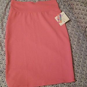 Bubblegum pink lularoe Cassie skirt